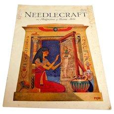 NEEDLECRAFT Magazine. JUNE 1929. Wonderful ads & patterns. Near Fine Condition.