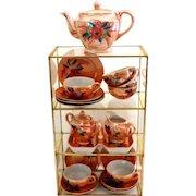 Peach Lustre Ware Child's Tea Set.  Charming.