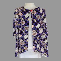 Card Player's Blouse / Light Jacket.  Custom Made. One of a Kind. As New Condition.