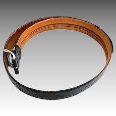 Men's Money Belt.  Genuine Leather.  Black.  Size 40.