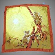 Koala Bear Scarf.  Souvenir of Australia.  As New Condition.