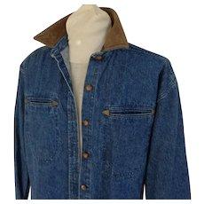 Blue Denim Coat Dress.  Size L.  Mint Condition.