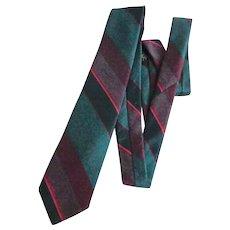 Men's Tie.  Christian Dior Monsieur . Teal Blue and Wine.  Elegant.   Mint Condition.