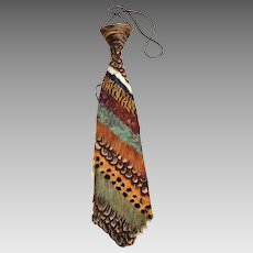 Pheasant Feather Tie.  Rare.  Jager / Hunting.  Germany.  Original Box.  Super Gorgeous.  Mint Condition.