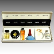 Boxed Mini Perfumes.  1970's.  Parfumes Paris.