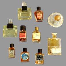 10 Mini Perfume Bottles.  Vintage. Collectible.