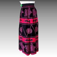 Wraparound Skirt / Pants.  1990's.  Full Length.  Black, Rose, Pink.  Mint Condition.