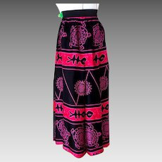Wraparound Skirt / Pants.  1990's.  Full Length.  Black, Rose, Pink.  Mint Condition.