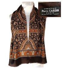 PIERRE CARDIN Designer Scarf.  100% Silk.  Uni-sex.  As New Condition.  Never Worn.