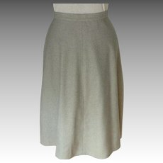 A-Line Flared Skirt.  Acrylic & Wool Blend.  Lined.  Simple Elegance.  Size L.  As New Condition.
