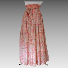 Evening Skirt. Floor Length. 100% Thai silk.  Custom Made and Designed.  Super Gorgeous.  As New Condition.