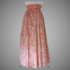 Evening Skirt. Floor Length. 100% Thai silk.  Custom Made and Designed.  Super Gorgeous.  As New Condition.