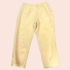100% Silk Pants.  Lined.  Straight Leg Cut.  Flesh Colored.  Luxury.  Fashion classic.