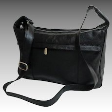 SG International Genuine Leather Crossbody Purse.  Multiple Pockets.  Black.  Top Quality.  As New. Never Used.