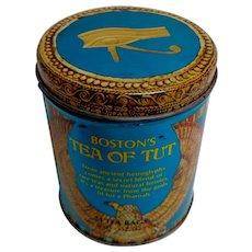 Vintage Tea / Biscuit Tin.  Boston's Tea of Tut. Egyptian Themes.  Pharaoh.
