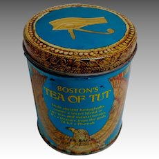 Vintage Tea / Biscuit Tin.  Boston's Tea of Tut. Egyptian Themes.  Pharaoh.