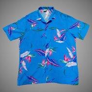 Big Sur California Hawaiian Shirt.  1980's.  100% Rayon.  Mint Condition.