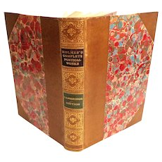 Holmes's Complete Poetical Works.  1895.  Houghton Mifflin Co. Leather Bound. Near Fine Condition.