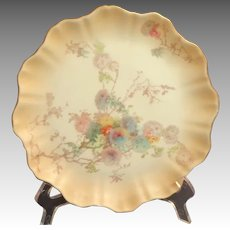 1889 Doulton Burslem Plate C2020.  Gilt Edged Floral Design.  Mint Condition.