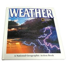 WEATHER Pop-Up Book.  National Geographic Society.  1994.  Wonderful.  As New Condition.