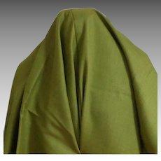 "3 Yds + 13"" Vintage Genuine Linen.  Olive Green.  Mint. Unused Condition."