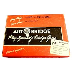 Vintage Auto Bridge Set.  1959.  Play Yourself Bridge Game.  Mint Condition.