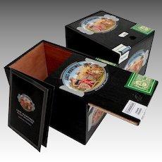 2 Cigar Boxes.  Black. Luis Martinez Nicaragua.  Mint Condition.