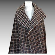 """1 yd + 15"""" Reversible Wool Fabric.  Coat / Jacket Weight.  Unused. Vintage. Mint Condition."""