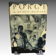 PORGY by Du Bose Heyward.  Grosset & Dunlap.  Copyright 1925.  Illustrated.  Mint Condition.