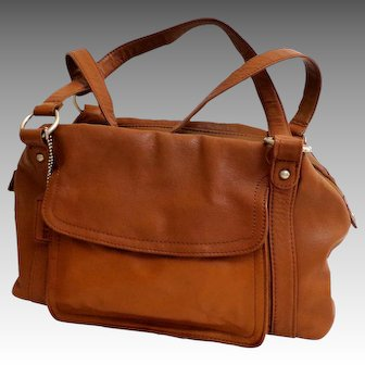 St. John's Bay Genuine Leather Purse.  Brown.  As New Condition.