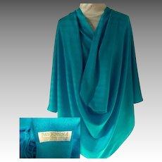 Turquoise Pashmina / Shawl.  30% Silk & 70% Pashmina.  Gorgeous.  As New Condition.
