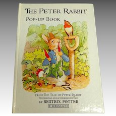 Peter Rabbit Pop-Up Book.  1988.  Charming.  As New Condition.