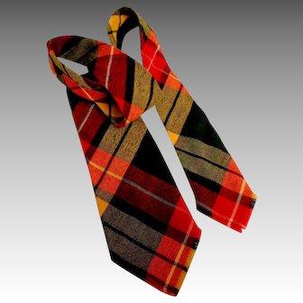 Buchanan Tartan Tie.  100% Wool Plaid.  Mint Condition.