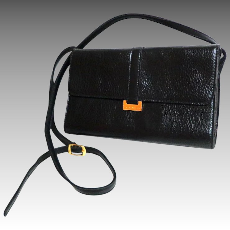 e8c8f6440ce1 CORNELL Black Purse. Crossbody. Faux Leather. Mint Condition.   Books and  Bygones