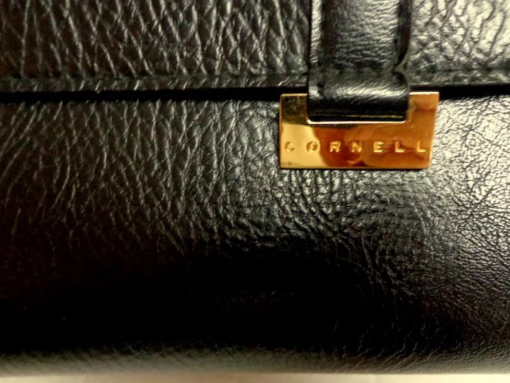1598a7a84aae CORNELL Black Purse. Crossbody. Faux Leather. Mint Condition ...
