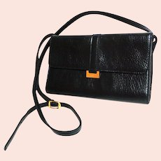 CORNELL  Black Purse. Crossbody.  Faux Leather.  Mint Condition.