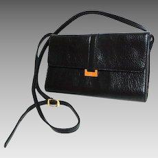 CORNELL  Black Purse. Crossbody.  Faux Leather.  Mint Condition.
