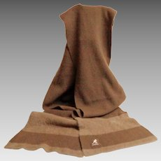 KANGOL Scarf.  Extra Long.  Wool and Angora.  Browns.  Uni-sex.  As New Condition.