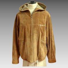 DANIER Genuine Suede Shirt Jacket.  Lined.  Large.  Golden Sand Color.  Mint Condition.