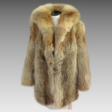 Genuine Wolf Fur Coat.  Stroller / 3/4 Length.  One-of-a-kind.  Custom Made.  Pristine Condition.