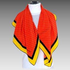 CAROLINA HERRERA Signed Designer 100% Silk Scarf.  As New Condition.
