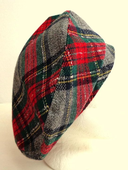 ee976c445d4a3 Tartan   Plaid Tam. Lined. Wide Brim. As New Condition.   Books and ...