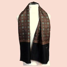 CHRISTIAN DIOR MONSIEUR  Scarf.  2 Layers: Silk and Wool.  Gorgeous.  As New Condition.