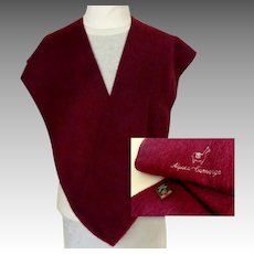 100% Alpaca Camargo Scarf.  Wine Color. Brushed Finish.  Quality.  As New Condition.