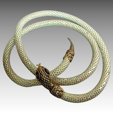 Snake Belt / Necklace.  Mother-of-Pearl  / MOP Mesh Scales.  Mint Condition.