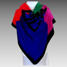 Givenchy Scarf.  Large. Primary Colors.  Gorgeous.  As New Condition.