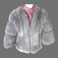 Luxurious Faux Fur Jacket. Silver Grey. Totally Gorgeous. MWT. New Condition.