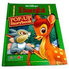 Walt Disney's BAMBI Pop-Up Storybook.  Hardcover.  Bendon Pub. 2006.  V. Scarce.  As New Condition.