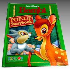 Walt Disney's BAMBI Pop-Up Storybook.  Hardcover.  Bendon Pub. 2006.  V. Scarce.  As New Condition.