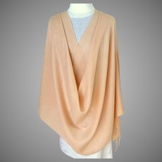 Florence, Italy.  Italian Pashmina, 50% Silk, 50% Cashmere.  Flesh Color.  Large.  Mint Condition.